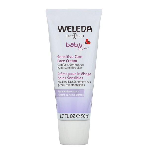 Weleda, Baby, Sensitive Care Face Cream, White Mallows Extracts, 1.7 fl oz (50 ml)
