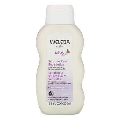 Купить Weleda Baby, Sensitive Care Body Lotion, White Mallow Extracts, 6.8 fl oz (200 ml)