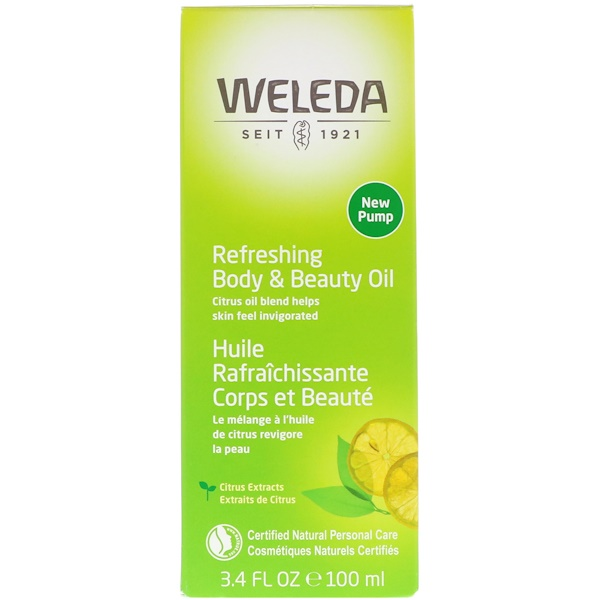 Weleda, Refreshing Body & Beauty Oil, Citrus Extracts, 3.4 fl oz (100 ml)