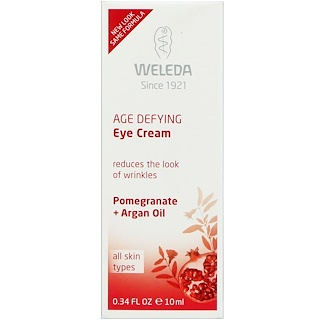 Weleda, Age Defying Eye Cream, All Skin Types, Pomegranate + Argan Oil, 0.34 fl oz (10 ml)