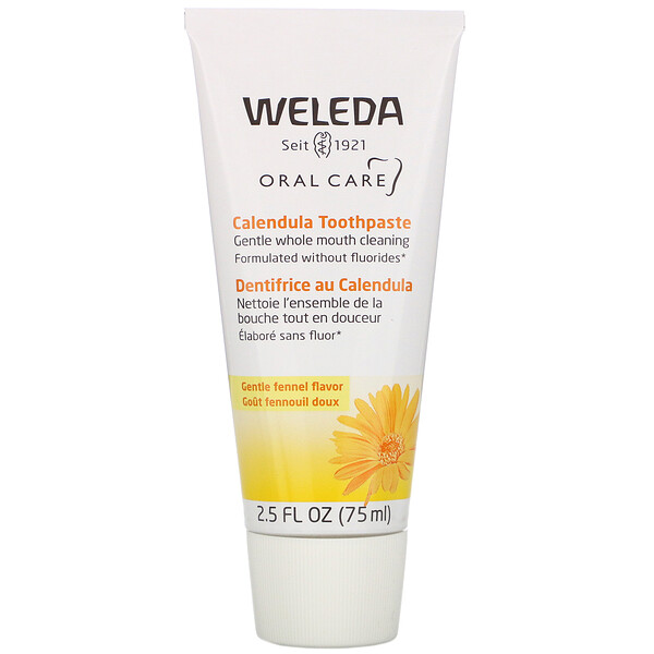 Calendula Toothpaste, Fennel, 2.5 fl oz (75 ml)