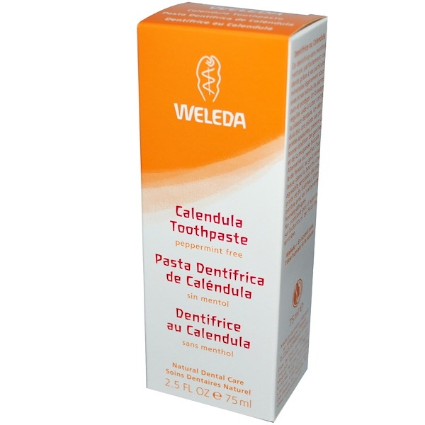 Calendula Toothpaste, Peppermint-Free, 2.5 fl oz (75 ml)