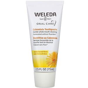 Веледа, Oral Care, Calendula Toothpaste, Fennel, 2.5 fl oz (75 ml) отзывы покупателей