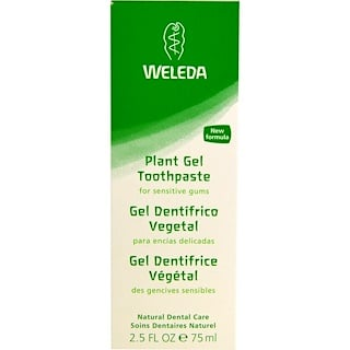 Weleda, Crema dental de gel de plantas, 2.5 fl oz (75 ml)
