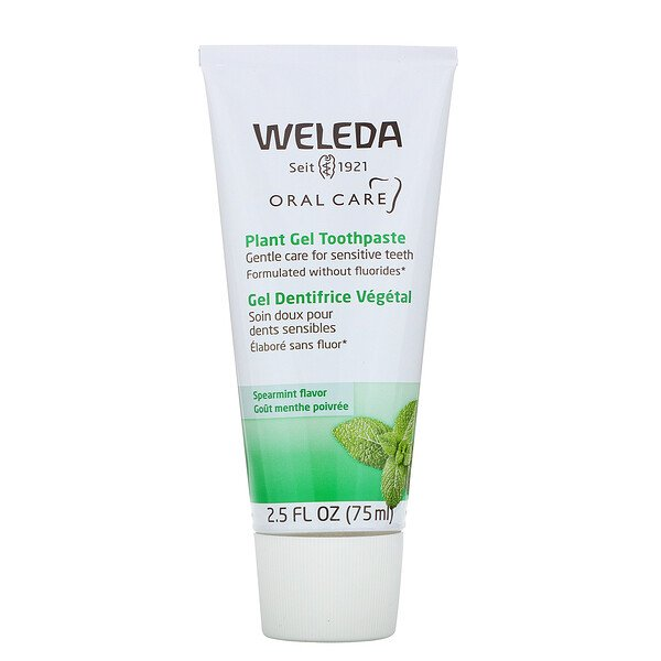 Weleda, Oral Care, Plant Gel Toothpaste, Spearmint, 2.5 fl oz (75 ml)
