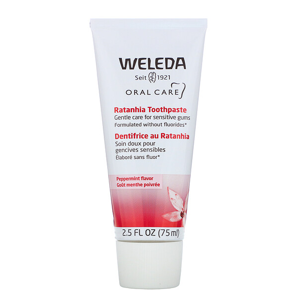 Weleda, Oral Care, Ratanhia Toothpaste, Peppermint Flavor, 2.5 fl oz (75 ml)