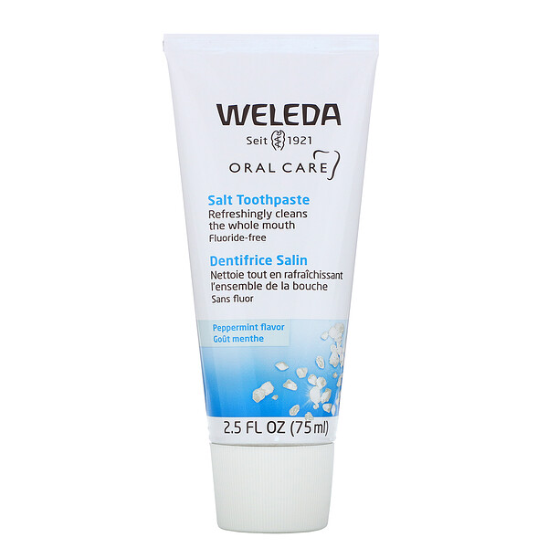 Weleda, Oral Care, Salt Toothpaste, Fluoride Free, Peppermint, 2.5 fl oz (75 ml)