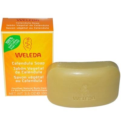 Мыло с календулой, 100 г (3,5 унции) глицериновое крем мыло миндальное 12 кусков по 3 5 унции 100 г
