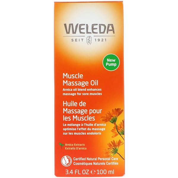 Weleda, Óleo de massagem muscular, Extratos de Arnica, 3,4 fl oz (100 ml)
