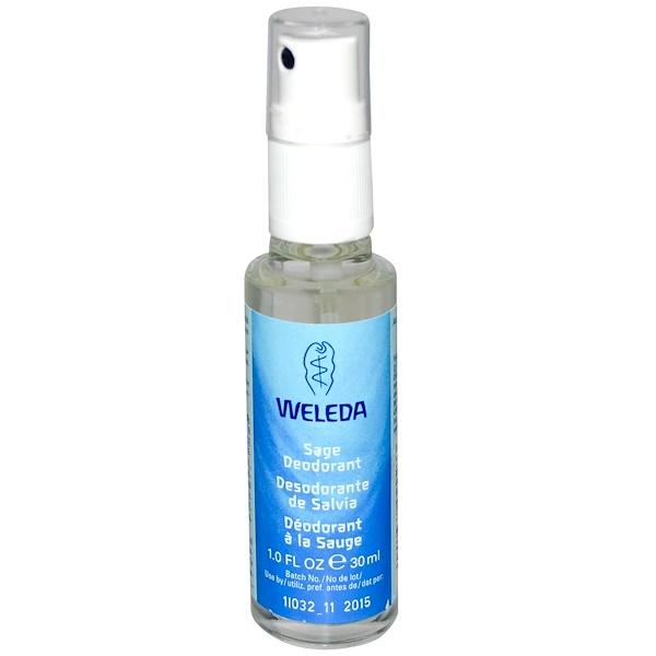 Weleda, Sage Deodorant, 1.0 fl oz (30 ml) (Discontinued Item)