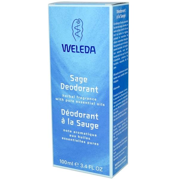Weleda, Sage Deodorant, 3.4 fl oz (100 ml) (Discontinued Item)