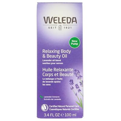 Расслабляющее масло для тела и красоты, Экстракты лаванды, 3.4 ж. унц.(100 мл) масло для тела weleda лавандовое расслабляющее бутылка 100 мл