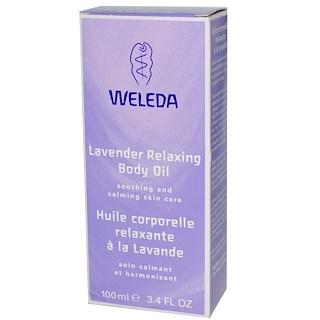Weleda, ラベンダーリラックシングボディーオイル、 3.4液量オンス (100 ml)