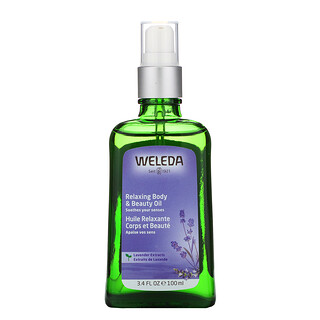 Weleda, Relaxing Body & Beauty Oil, Lavender Extracts, 3.4 fl oz (100 ml)