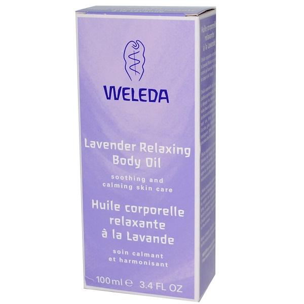 Weleda, Relaxing Body Oil, Lavender, 3.4 fl oz (100 ml)