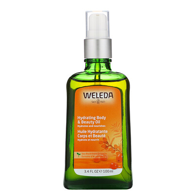 Weleda Hydrating Body & Beauty Oil, Sea Buckthorn Extracts, 3.4 fl oz (100 ml)  - Купить