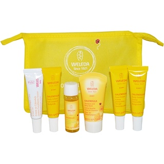 Weleda, Calendula Baby On-The-Go Kit, 6 Pieces