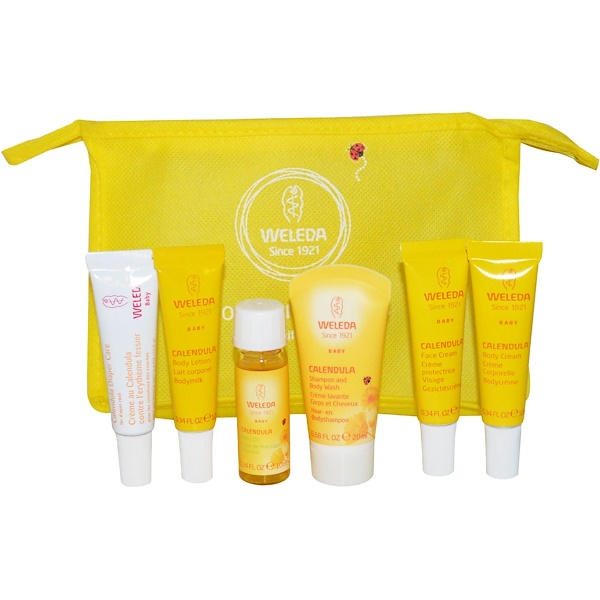 Weleda, Calendula Baby On-The-Go Kit, 6 Pieces (Discontinued Item)