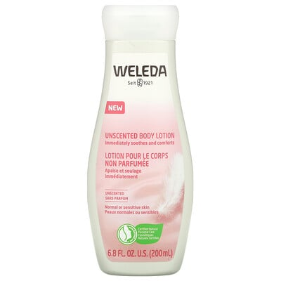 Weleda Unscented Body Lotion, 6.8 fl oz (200 ml)
