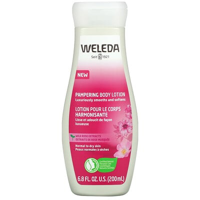 Weleda Pampering Body Lotion, Wild Rose Extracts, 6.8 fl oz (200 ml)