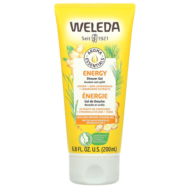 Weleda, Aroma Essentials, Energy Shower Gel, 6.8 fl oz (200 ml)