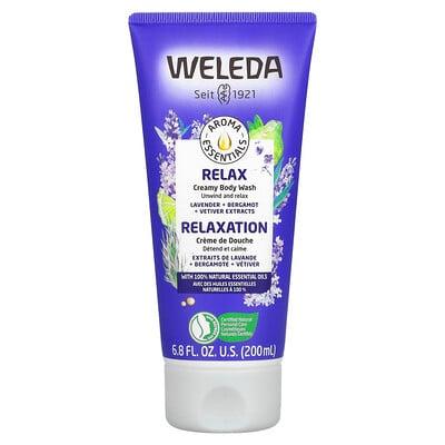 Weleda Relax, Creamy Body Wash, Lavender + Bergamot + Vetiver Extracts, 6.8 fl oz (200 ml)