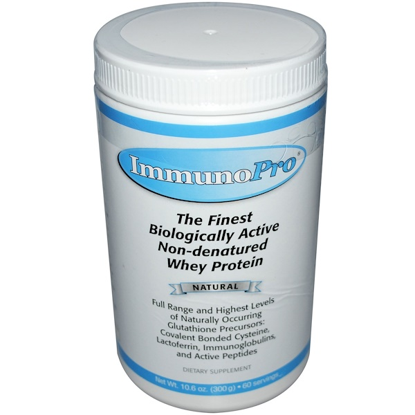 ImmunoPro, The Finest Biologically Active Non-Denatured Whey Protein, Natural, 10.6 oz (300 g)