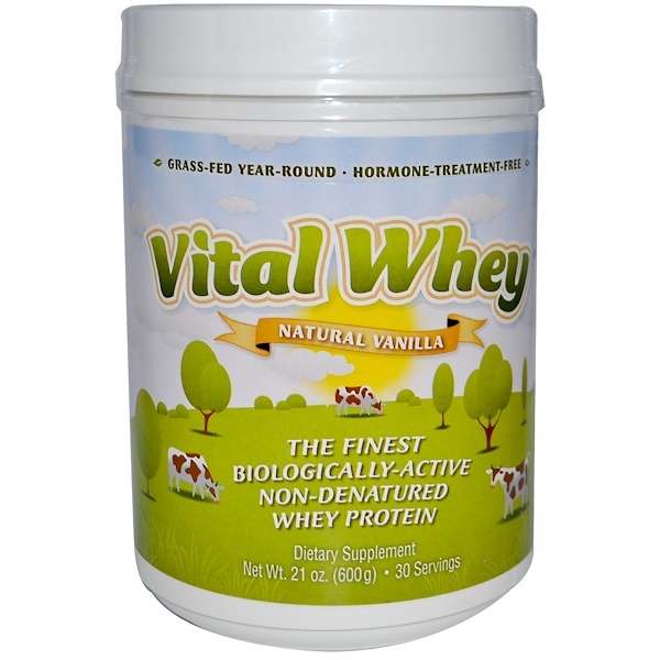 Well Wisdom, Vital Whey, Natural Vanilla, 21 oz (600 g) (Discontinued Item)