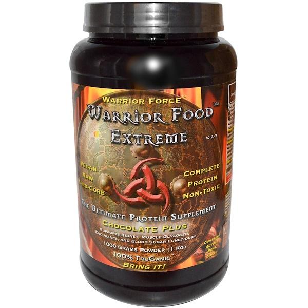 Warrior Force Nutritionals, Warrior Food, Extrem, Version  3.0, Chocolate Plus, 35.2 oz (1000 g) (Discontinued Item)