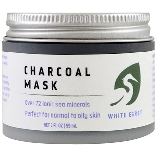 White Egret Personal Care, Charcoal Mask, 2 fl oz (59 ml)