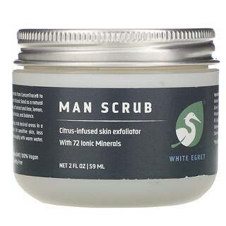 White Egret Personal Care, Man Scrub,  2 oz (59 ml)