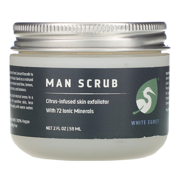 White Egret Personal Care, Man Scrub,  2 oz (59 ml)