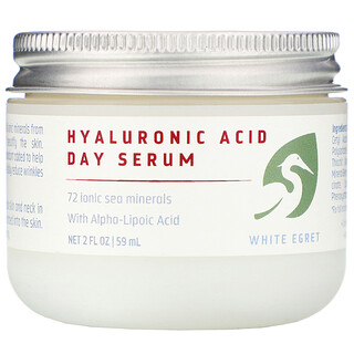White Egret Personal Care, Hyaluronic Acid, Day Serum, 2 fl oz (59 ml)