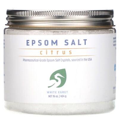 White Egret Personal Care Английская соль, цитрусовая, 16 унц. (454 г)  - купить со скидкой
