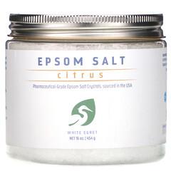 White Egret Personal Care, 瀉鹽,柑橘味,16 盎司(454 克)
