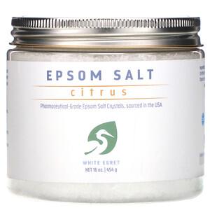 Вайт Егрет Персонал Кер, Epsom Salt, Citrus, 16 oz (454 g) отзывы покупателей