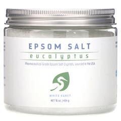 White Egret Personal Care, 瀉鹽,桉樹,16盎司(454克)