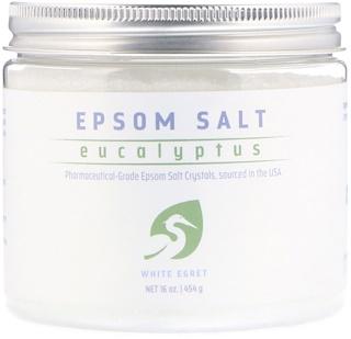 White Egret Personal Care, Epsom Salt, Eucalyptus, 16 oz (454 g)