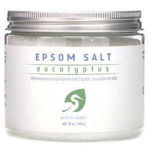 Вайт Егрет Персонал Кер, Epsom Salt, Eucalyptus, 16 oz (454 g) отзывы покупателей