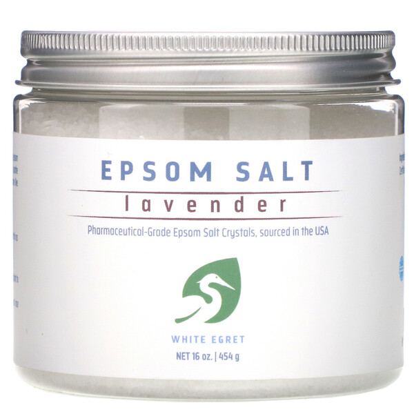 Epsom Salt, Lavender, 16 oz (454 g)