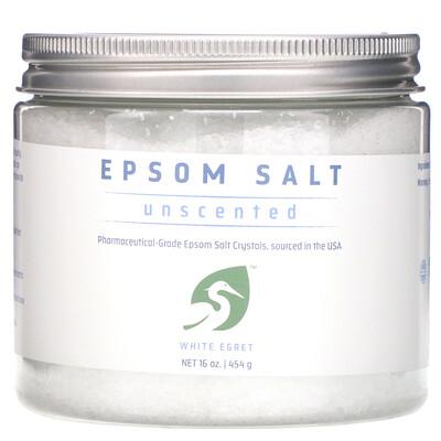 Купить White Egret Personal Care Английская соль, без запаха, 454 г