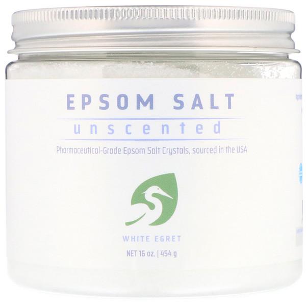 White Egret Personal Care, Английская соль, без запаха, 454 г