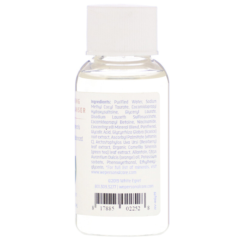 White Egret Personal Care, Skin Toning Facial Cleanser, 1 fl oz (30 ml) - photo 1