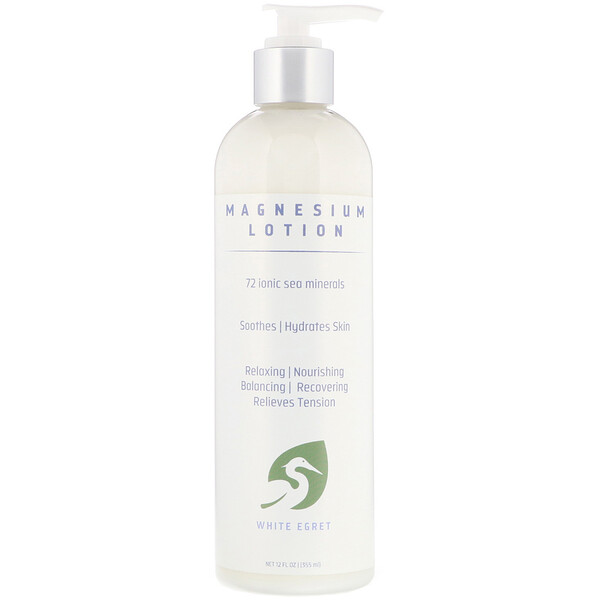 White Egret Personal Care, Lotion au magnésium, 355 ml (12 fl oz)