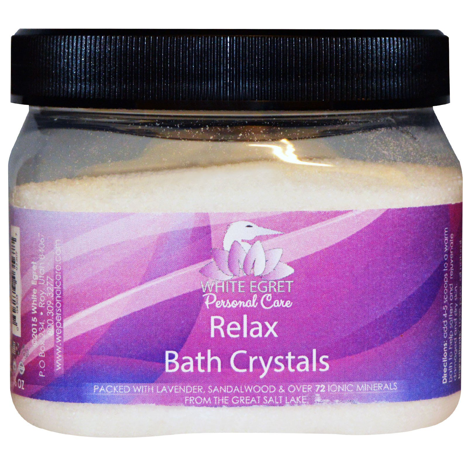Other Bath & Body Supplies The Best Bath Crystals Relax 16 Oz By White Egret Bath & Body