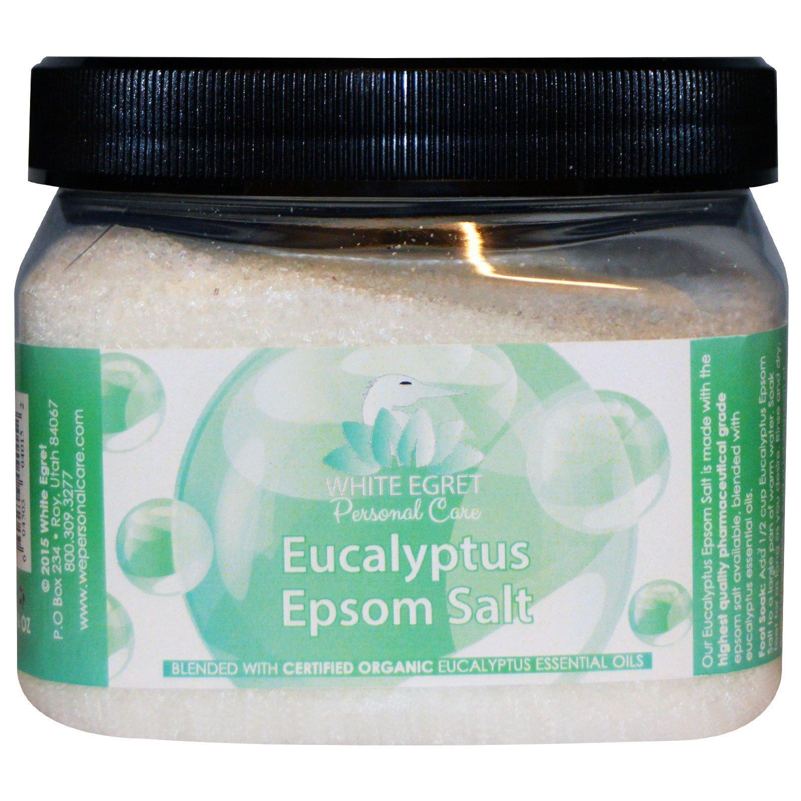 White Egret Personal Care, Горькая эвкалиптовая соль, 16 унций