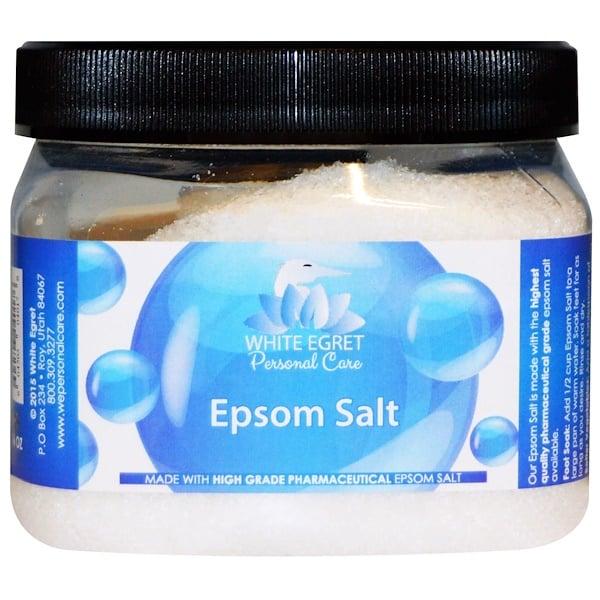 White Egret Personal Care, Epsom Salt, 16 oz
