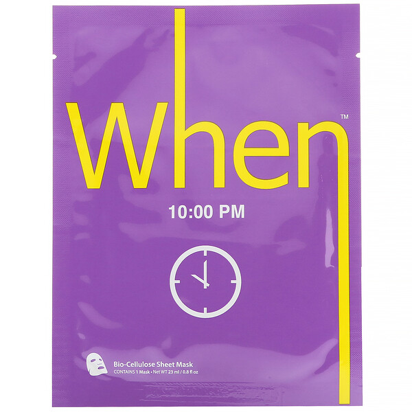 10:00 PM, Bio-Cellulose Sheet Mask, 1 Sheet, 0.8 fl oz (23 ml)
