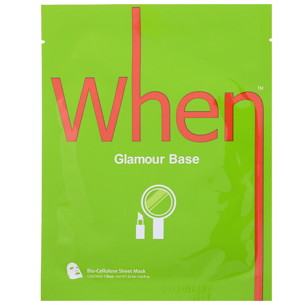 Glamour Base, Bio-Cellulose Sheet Mask, 1 Sheet, 0.8 fl oz (23 ml)
