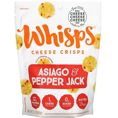 Купить Whisps Asiago & Pepper Jack Cheese Crisps, 2.12 oz ( 60 g)